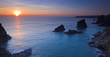Bedruthan Steps, Cornwall, Sunset, Sea Stacks