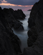 Morthoe, near Woolacombe, North Devon, rocky, valley, sunset
