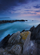 Morthoe Point, near Woolacombe, after sunset, long exposure, North Devon