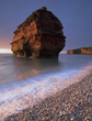 Ladram Bay, morning, sunrise, golden, Devon