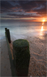 Hayling Island, beach, sunset, low tide, evening, glow